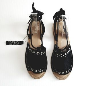 New !! Topshop Hope Studded Sandals size 38